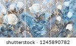 collection of designer oil... | Shutterstock . vector #1245890782