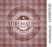 adrenaline red seamless badge...   Shutterstock .eps vector #1245892528