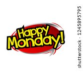happy monday label with red... | Shutterstock .eps vector #1245895795