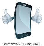 a mobile phone cell mascot... | Shutterstock .eps vector #1245903628
