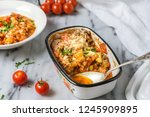homemade vegetable casserole... | Shutterstock . vector #1245909895
