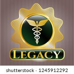 gold emblem or badge with...   Shutterstock .eps vector #1245912292