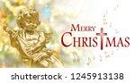 Christmas Background  Golden...