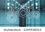 heap of digital gears on... | Shutterstock . vector #1245928312