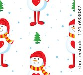 seamless vector pattern with... | Shutterstock .eps vector #1245933082