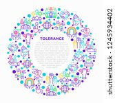 tolerance concept in circle... | Shutterstock .eps vector #1245934402