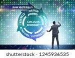 concept of circular economy... | Shutterstock . vector #1245936535