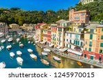 beautiful sea coast with... | Shutterstock . vector #1245970015
