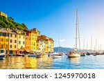 beautiful sea coast with... | Shutterstock . vector #1245970018