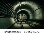 underground facility with a big ... | Shutterstock . vector #124597672