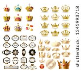 collection gold crown... | Shutterstock .eps vector #1245993718