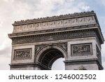 arc de triomphe de l' toile ... | Shutterstock . vector #1246002502