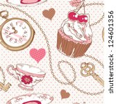 Romantic Love Vintage Pattern...