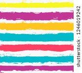 paint lines seamless pattern.... | Shutterstock .eps vector #1246019242