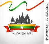 myanmar independence day... | Shutterstock .eps vector #1246028332