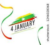myanmar independence day... | Shutterstock .eps vector #1246028368