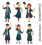 graduates students. college... | Shutterstock .eps vector #1246039915