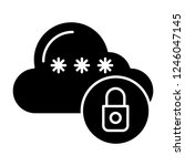 locked cloud solid icon. cloud...