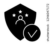 verified user solid icon.... | Shutterstock .eps vector #1246047172