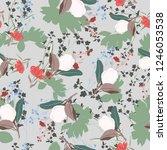 blossom floral seamless pattern ...   Shutterstock .eps vector #1246053538