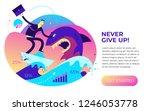 flat design illustration for... | Shutterstock .eps vector #1246053778