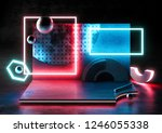 abstract style background with... | Shutterstock . vector #1246055338