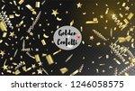 modern realistic gold tinsel...   Shutterstock .eps vector #1246058575