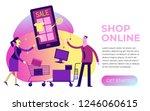 flat design illustration for... | Shutterstock .eps vector #1246060615