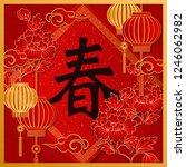 happy chinese new year retro...   Shutterstock .eps vector #1246062982