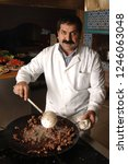the kebab is cooked and the... | Shutterstock . vector #1246063048