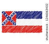 hand drawn national flag of...   Shutterstock .eps vector #1246063432