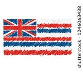 hand drawn national flag of...   Shutterstock .eps vector #1246063438