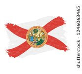 flag of florida. grunge...   Shutterstock .eps vector #1246063465