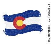 flag of colorado. grunge...   Shutterstock .eps vector #1246063525