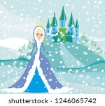 beautiful winter princess | Shutterstock . vector #1246065742