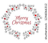 christmas card. hand drawn... | Shutterstock .eps vector #1246066312