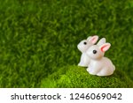 two figures bunny on the grass. ... | Shutterstock . vector #1246069042
