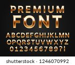 glossy gold typeface  shine... | Shutterstock . vector #1246070992