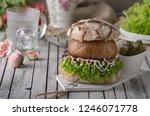 portobello burger  homemade bun ...
