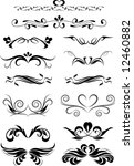 tattoo and design elements | Shutterstock .eps vector #12460882