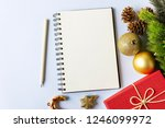 notepad and ornaments   new... | Shutterstock . vector #1246099972