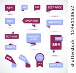 vector stickers  price tag ...   Shutterstock .eps vector #1246113652