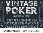 vintage font handcrafted vector ... | Shutterstock .eps vector #1246128658