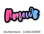 mon amour postcard. my love in... | Shutterstock .eps vector #1246133005