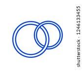 wedding ring icon. vector...   Shutterstock .eps vector #1246133455