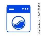 washer machine icon. vector...   Shutterstock .eps vector #1246133458