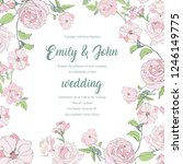 wedding invitation square card... | Shutterstock .eps vector #1246149775