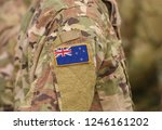 flag of new zealand on soldiers ... | Shutterstock . vector #1246161202