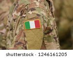 flag of italy on soldiers arm ... | Shutterstock . vector #1246161205