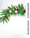 christmas decoration with snow. ... | Shutterstock . vector #1246166668